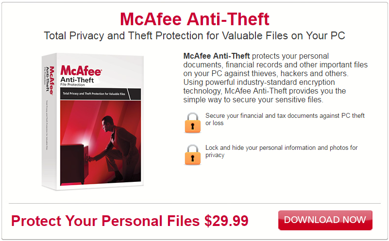 Mcafee anti-theft app