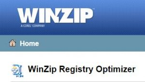 Winzip Registry Optimizerの画像